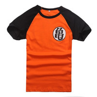 Dragonball Z Son Goku Cosplay Sleeve Unisex T-shirt Tops Tee Shirts Halloween Dragon Ball Costume Tshirt