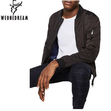 WEONEDREAM 2017 Thin Style Military Motorcycle Flight Jacket Pilot Air Force Men Bomber Jacket Mens Hip Hop Coats Streetwear