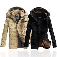 Thick Cotton-Padded Winter Hood Jackets