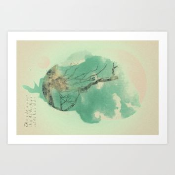 A NEW PLANET IS BORN Art Print by TreeomStudio