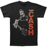 Johnny Cash Men's  Guitar Slinger Vintage T-shirt Black Rockabilia