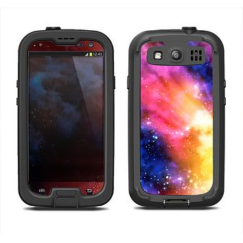 The Super Nova Neon Explosion Samsung Galaxy S3 LifeProof Fre Case Skin Set
