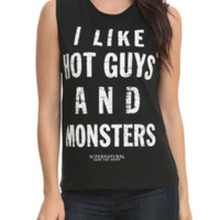 Supernatural Hot Guys And Monsters Girls Muscle Top