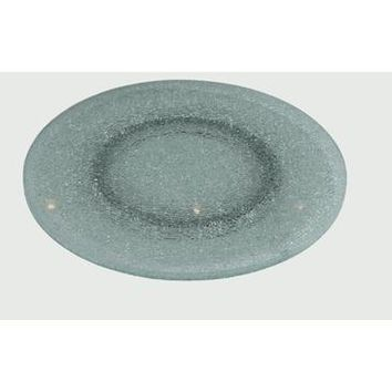 "Chintaly Sandwich Glass Lazy Susan 24"" In Clear Glass"