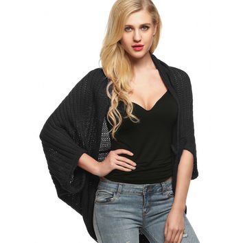 Black Cocoon Sweater