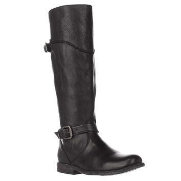 FRYE Phillip Riding Wide Calf Boots, Black, 5.5 US