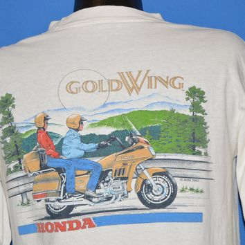 80s Gold Wing Motorcycle Hondaline Long Sleeve t-shirt Large