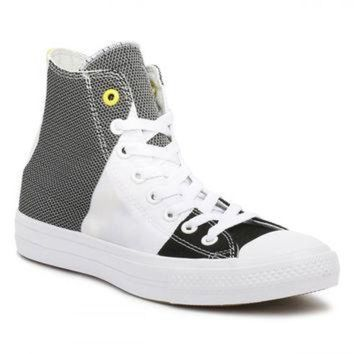 CREYUG7 Converse All Star Chuck Taylor II Mens White Black Fresh Yellow  Trainers fd517a7b2566