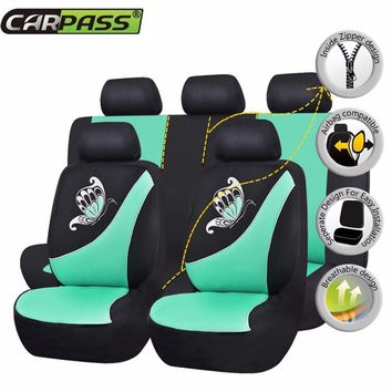 2017 New Arrival Car Seat Covers Universal Set Front Rear Spring Auto Seat Protector For Corolla Car Styling Covers Accessories