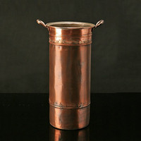 Copper Umbrella Bucket | Rain Collection