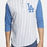 Men's Red Jacket 'Los Angeles Dodgers - Double Play' Jersey Henley