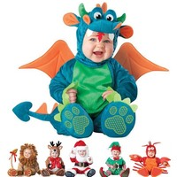 Baby Rompers Newborn Bebe clothes Funny Animal Pirate Dinosaur Penguin Santa Claus Carnival Christmas Halloween Costume for Kids