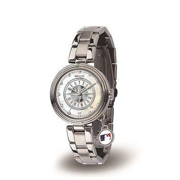 Seattle Mariners Charm Watch with Stainless Steel Band