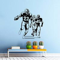 Football Player Wall Decal Vinyl Sticker Sport Wall Decor Home Interior Design Art Mural Boy Room Kids Nursery Bedroom Dorm Z744