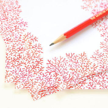 Crimson Clearing | Loose Leaf Notepaper