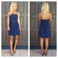 Fall Into The Sky Tank Dress - NAVY