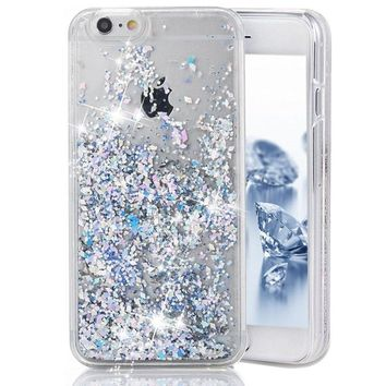 New Arrival Hot Style Shining Diamond Glitter Quicksand Phone Case Luxury Liquid Cover for iPhone 5/5S/SE/6/6S/6 Plus/6S Plus/7/7 Plus