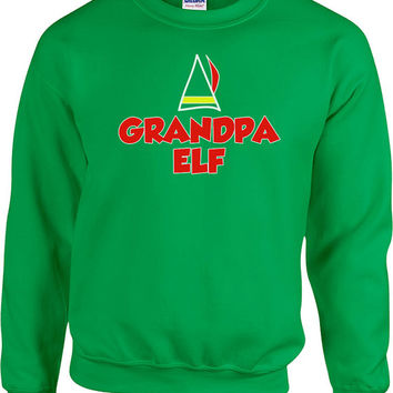 Funny Christmas Sweater Grandpa Elf Sweater Grandpa Sweater Ugly Xmas Sweater Christmas Presents Holiday Season Unisex Hoodie - SA477