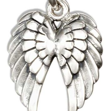 Sterling Silver Angel Wings Charm