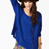 Sahara Shredded Knit - Blue
