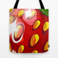 strawberry summer Tote Bag by AnnArk