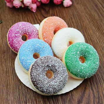 7CM Cute Squishy Toys Simulation Cake Model Cream Donuts Cartoon  Mini Soft Toys Anti Stress Ball Fun Toy Gift for Kids A-type