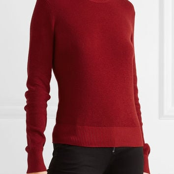 FRAME - Waffle-knit cotton and cashmere-blend sweater