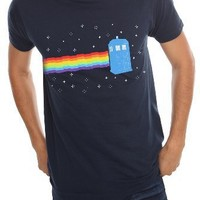 Doctor Who Rainbow TARDIS T-Shirt 2XL Size : XX-Large