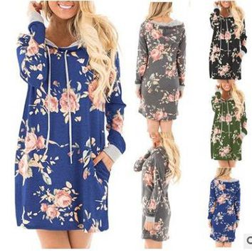 Floral Print Wide Dress in 5 Styles +Gift Necklace