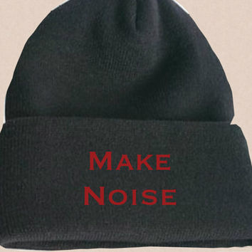 Tumblr Beanie Make Noise. Hipster