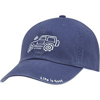 Life is Good. Adult Chill Cap - Native Off Road - Darkest Blue