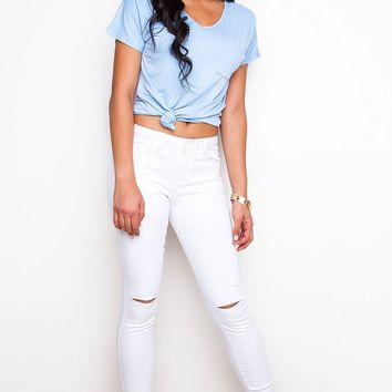 Hayes Distressed Jeans - White
