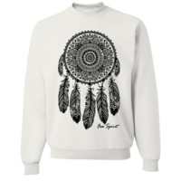 Native American Dreamcatcher Free Spirit Black Crewneck Sweatshirt