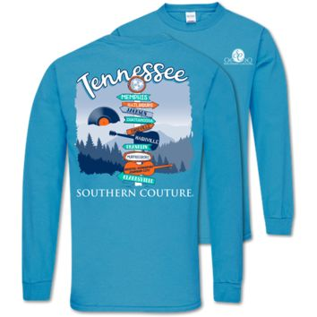 Southern Couture Classic Tennessee Signs Long Sleeve T-Shirt