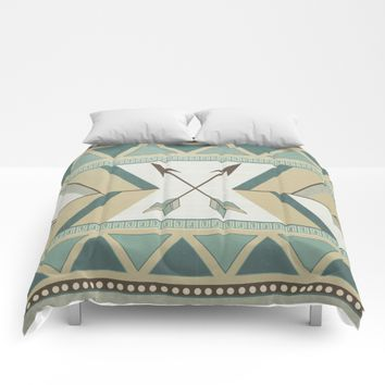 Aztec Pattern Arrows Comforters by LouJah