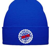 Poppie - The Man The Myth The Legend embroidery hat - Beanie Cuffed Knit Cap