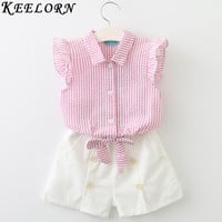 Style Kids Clothes Sleeveless Striped