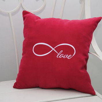 Personalized Pillow Covers Infinity Love Pillowcase Decorative Pillow Cover Infinity Symbol Home Decor Throw Pillows Wedding Gift V10