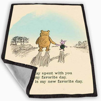 Winnie the pooh quotes Blanket for Kids Blanket, Fleece Blanket Cute and Awesome Blanket for your bedding, Blanket fleece **