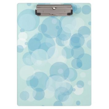 Blue Bubbles Clipboard