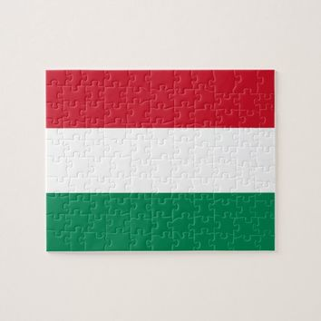 Puzzle with Flag of Hungary