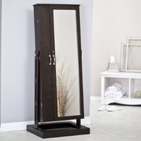 Amazon.com: Bordeaux Cheval Mirror Jewelry Armoire Color - Cherry: Home & Kitchen
