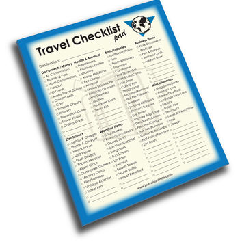 Jumbo Travel Checklist Notepad