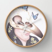 Crow Wall Clock by Drawings by LAM