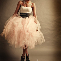 Adult Tutu Shabby Chic Pink Cocktail Length Perfect for Weddings and Portraits