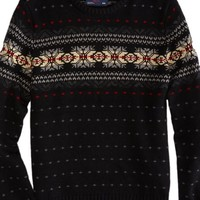AEO Men's Fair Isle Sweater (Black)