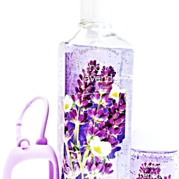 Bath and Body Works French Lavender Deep Cleansing Hand Soap, PocketBac & Holder
