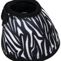 Saddles Tack Horse Supplies - ChickSaddlery.com Zebra Print No-Turn Bell Boots
