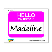 Madeline Hello My Name Is Sticker