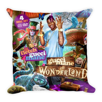 Gucci Mane In Wonderland (16x16) All Over Print/Dye Sublimation Gucci Mane Couch Throw Pillow Insert & Pillow Case/Cover
